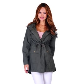 Simply Ravishing Hooded Military Jacket w/ Drawstring (Size: S - 3X)