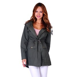 Simply Ravishing Hooded Military Jacket w/ Drawstring (Size: S - 3X) (More options available)