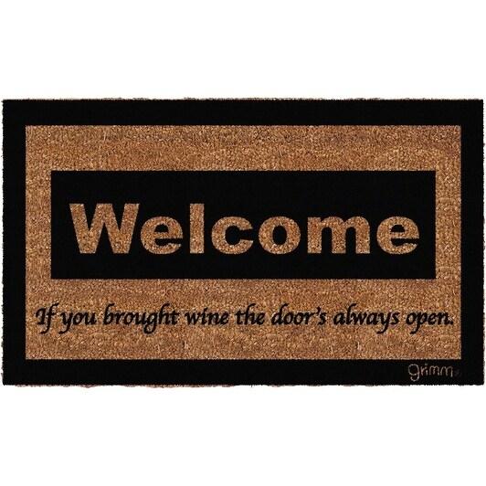 High Quality Grimm GRIMMDOORMAT Door Mat   Welcome If You Brought Wine The Doors Open    Free Shipping On Orders Over $45   Overstock.com   27286593