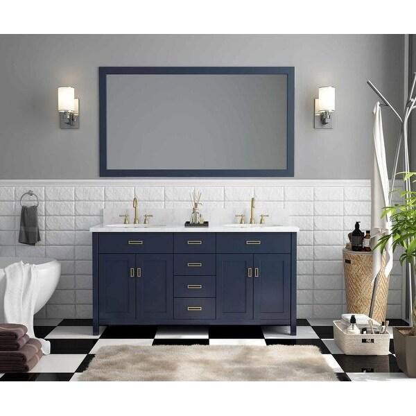 60-inch Freestanding Navy Blue Double Bathroom Vanity Set. Opens flyout.