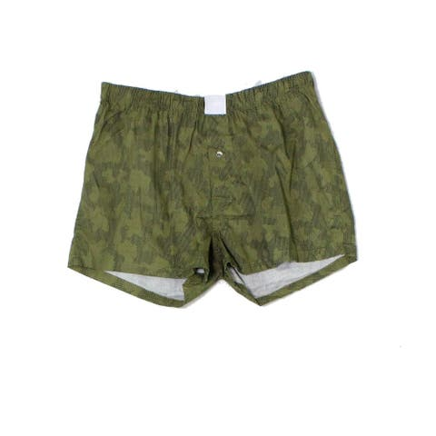 Michael Kors Mens Green Size Large L Logo Printed Stretch Boxer Underwear