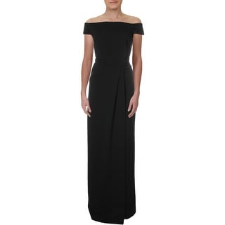 Link to Lauren Ralph Lauren Womens Saran Evening Dress Faux Wrap Boat Neck - Black Similar Items in Dresses