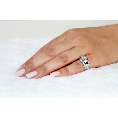 Handmade Sterling Silver Cubic Zirconia Engagement Ring