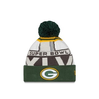 Green Bay Packers New Era NFL Super Bowl XLV Logo Cuffed Knit Hat