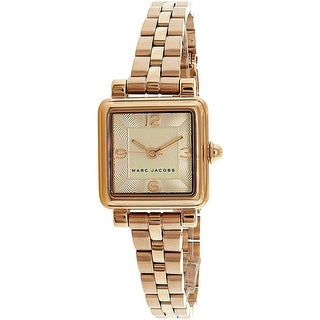 Marc Jacobs Women's Vic Rose-Gold Stainless-Steel Quartz Fashion Watch
