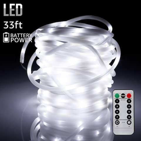 33ft 100LEDs Starry String Lights, Waterproof, White
