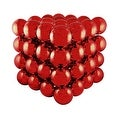 """16"""" Commercial Sized Shiny Red Shatterproof Christmas Ball Ornament Cube - Thumbnail 0"""