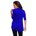 Simply Ravishing Women's Basic 3/4 Sleeve Open Cardigan (Size: Small-5X) - Thumbnail 2