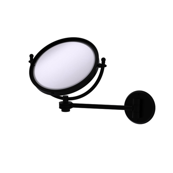 Allied Brass 8-in Wall Mounted Make-Up Mirror 2X Magnification
