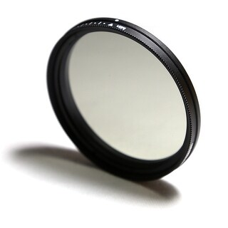 77mm Neutral Density Variable Fader Filter Lens ND2 ND4 ND8 ND400 - Black Carb