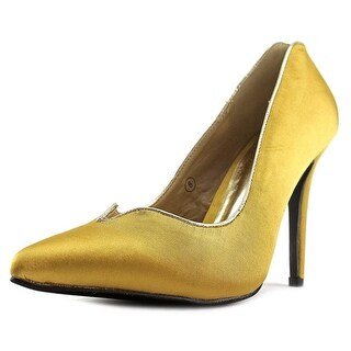 C Label Liberty-8B Women Pointed Toe Synthetic Gold Heels