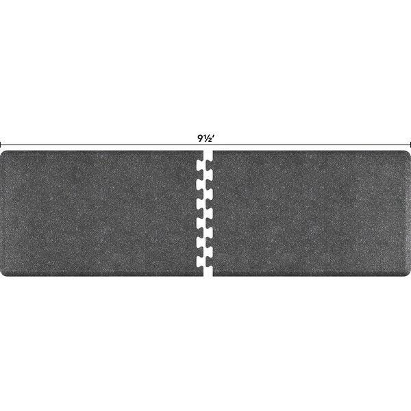 WellnessMats Anti-Fatigue Office & Kitchen Mat, PuzzlePiece Collection R Series, 9.5 Feet by 3 Feet, Granite Steel