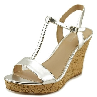 Charles By Charles David Libra RoseGold Metallic Women Silver Wedge Sandal