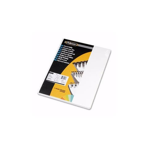 FELLOWES 52127 Classic Grain Texture Binding System Covers - 11-1-4 x 8-3-4 - White - 50-Pack