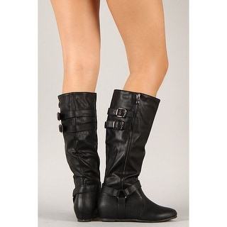 Wild Diva Women's Riding Boots Military Combat