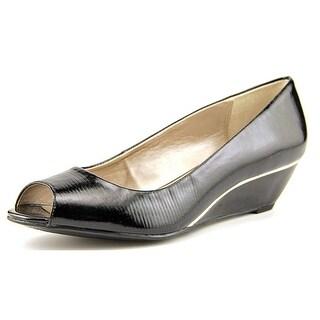 Alfani Cammi W Open Toe Synthetic Wedge Heel