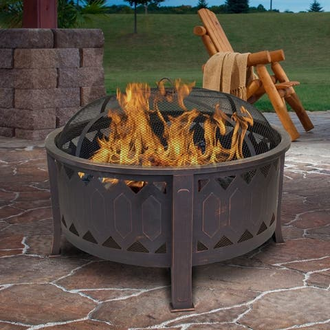 Outdoor Leisure Products 30 inch Round Firepit with Oil Rubbed Bronze Finish