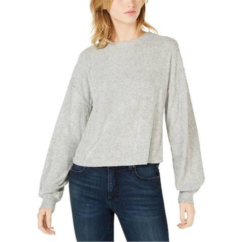 Bar Iii Womens Blouson Sleeve Pullover Sweater