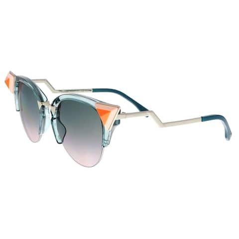 8a87a0c8f8bc1 FENDI 0041 N S 0BR0- JP Transparent Blue Cat eye Sunglasses - 52