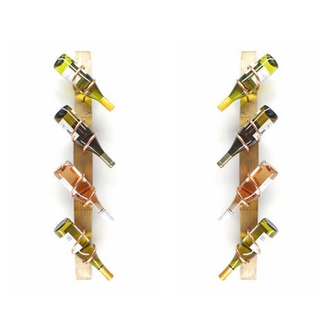 Handmade Wine Stave Wine Rack Set (USA)
