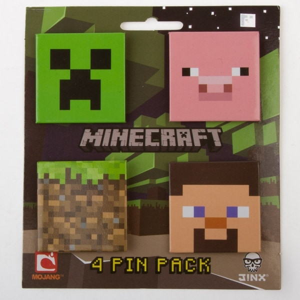 Minecraft 4 Pin Pack - Green