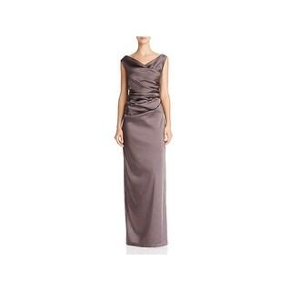 Adrianna Papell Womens Evening Dress Satin Full-Length