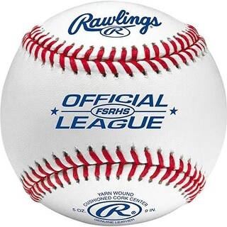 Rawlings FSRHS Flat Seam High School Baseball (Dozen) White