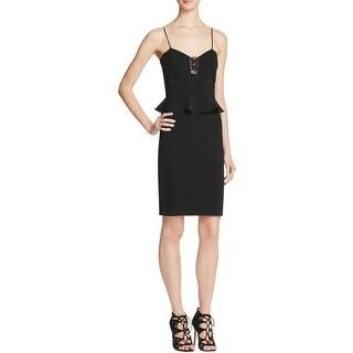 Parker Womens Clubwear Dress Illusion Peplum