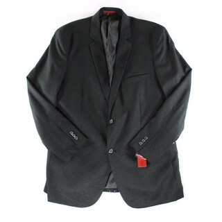 Alfani NEW Black Men Size Small S Three Pocket Shiny Two Button Blazer