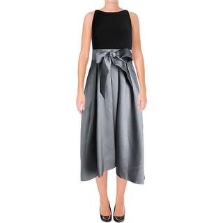 Lauren Ralph Lauren Womens Evening Dress Satin High-Low