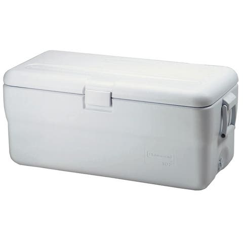 Rubbermaid FG198200TR 102 Quart Capacity Portable Ice Chest - - White
