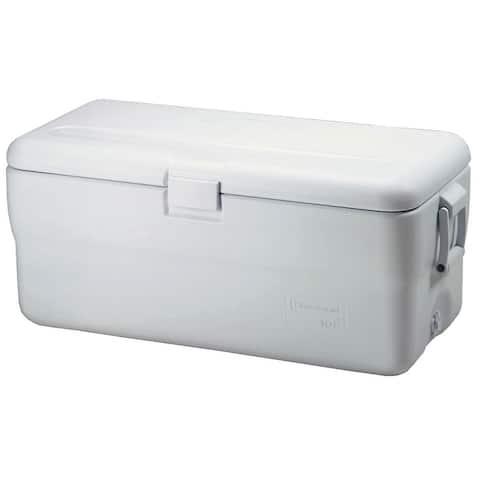 Rubbermaid FG198200TR 102 Quart Capacity Portable Ice Chest - White