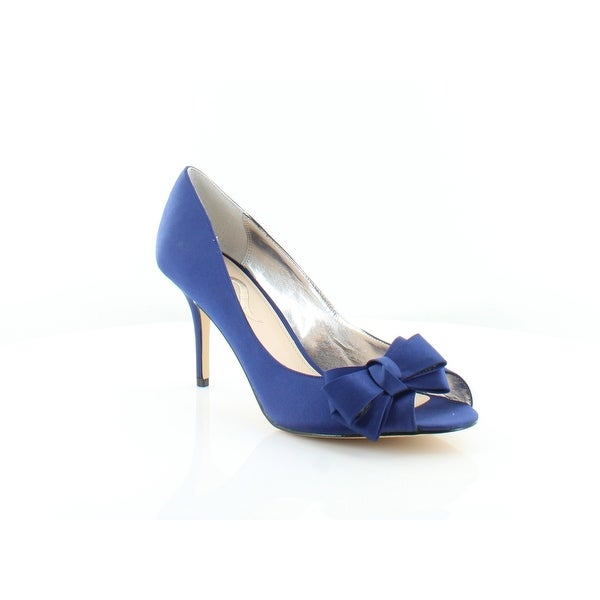 Nina Florice Women s Heels Navy Blue Luster - Free Shipping On ... 1aaa931aab94