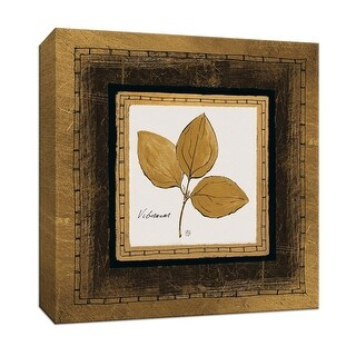 "PTM Images 9-153176  PTM Canvas Collection 12"" x 12"" - ""Gilded Viburnum"" Giclee Leaves Art Print on Canvas"