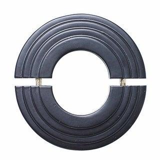 Radiator Flange Black Aluminum Escutcheon 1 11/16'' ID