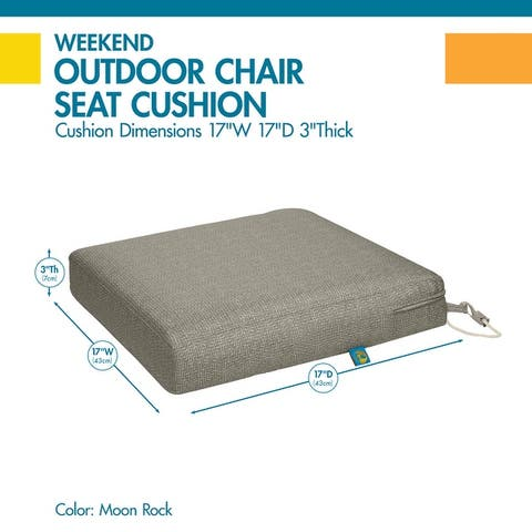 Duck Covers Weekend Water-Resistant Outdoor Dining Seat Cushion
