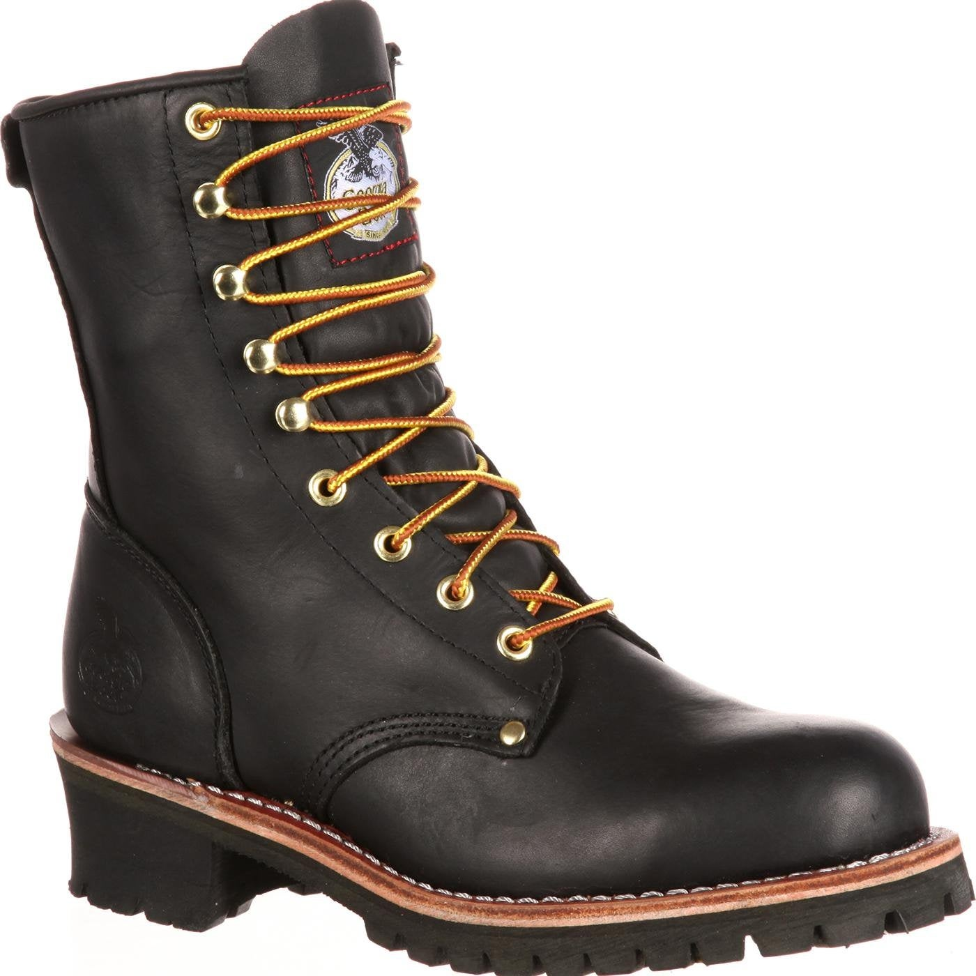 Black Logger Work Boots - Style #G8120