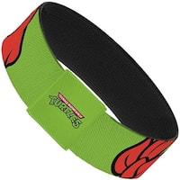 Classic Tmnt Raphael Eyes Close Up Green Red Elastic Bracelet