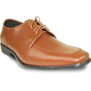 ALLURE MEN Dress Shoe AL01 Oxford Formal Tuxedo for Prom & Wedding Brown - Wide Width Available (Option: 15)
