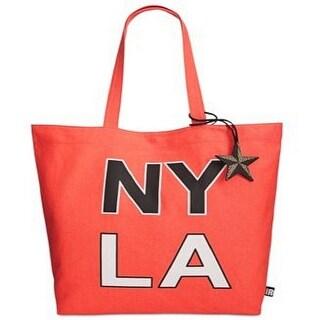 Circus by Sam Edelman NEW Orange Coral Canvas NY LA Shopper Tote Bag