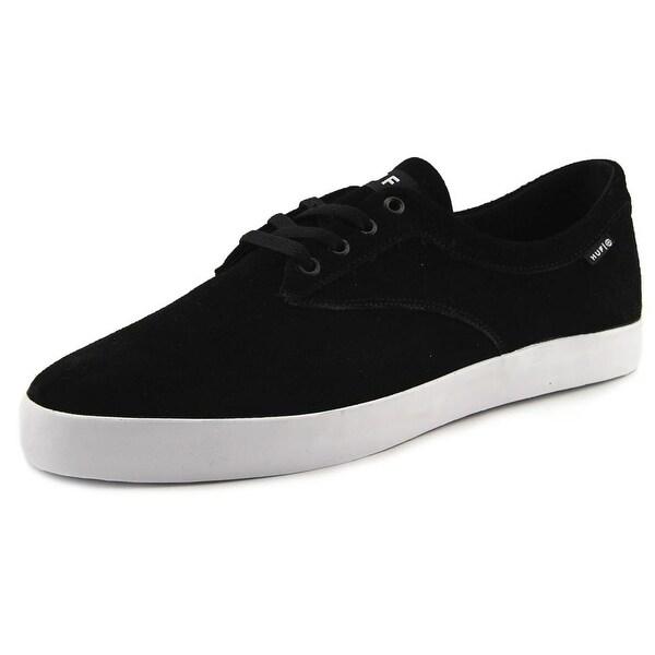 HUF Sutter Women Round Toe Leather Black Skate Shoe