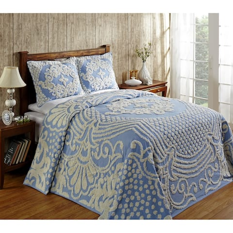 Better Trends Florence 100% Cotton Tufted Bedspread and Shams Machine Washable Tumble Dry