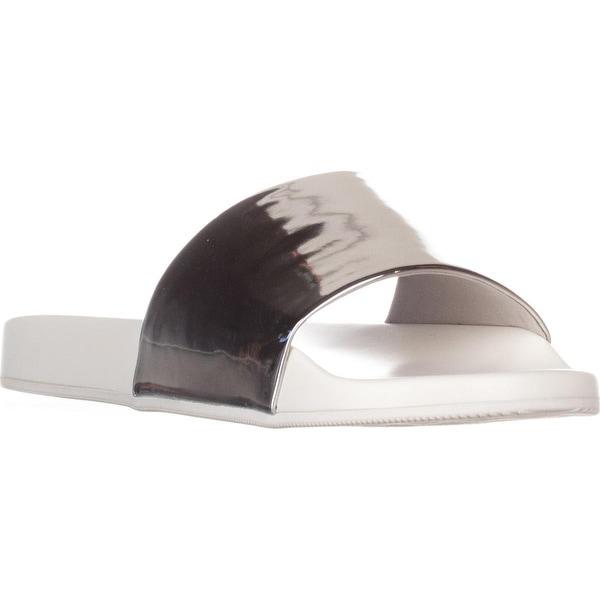 Aldo Maurizia Slide Sandals, Silver - 6 us / 36 eu