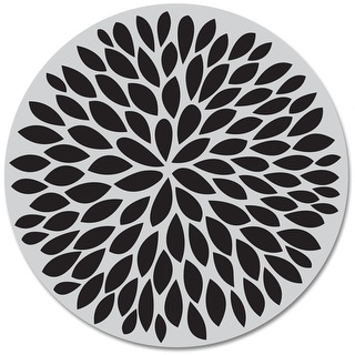 """Hero Arts Cling Stamps 4""""X4""""-Large Solid Flower"""