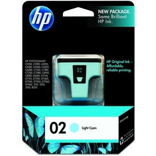 Hewlett Packard C8774WN#140 HP 02 Ink Cartridge - Light Cyan - Inkjet - 240 Page