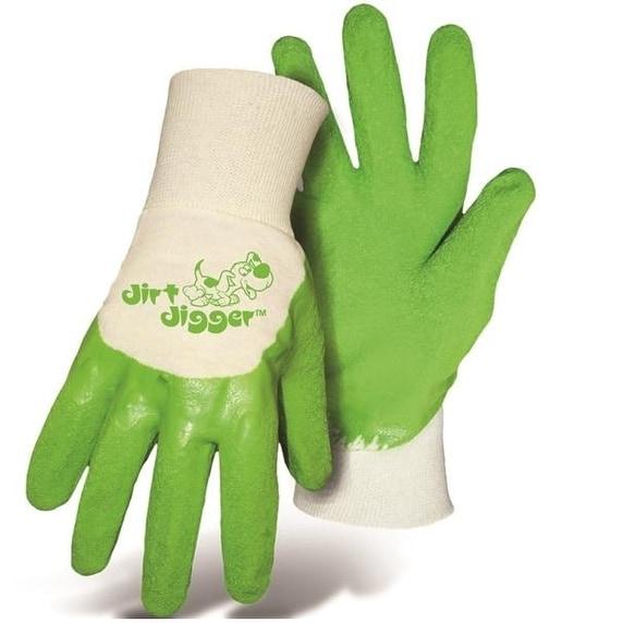 Boss 8404GB Dirt Digger Gloves Green Youth