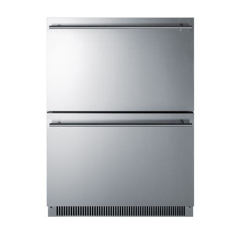 """Summit ADRD24 23"""" Wide 4.8 Cu. Ft. Energy Star Rated Undercounter - Stainless Steel"""