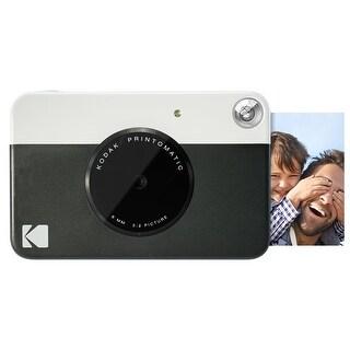 Kodak PRINTOMATIC Digital Instant Print Camera (Black), Full Color Prints On ZINK 2x3 Sticky-Backed Photo Paper