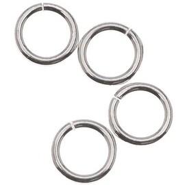 Sterling Silver Open Jump Rings 6mm 18 Gauge (10)