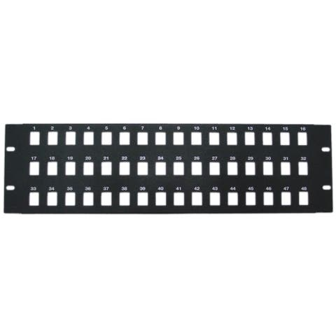 Offex Rackmount 48 Port Blank Keystone Patch Panel, 3U